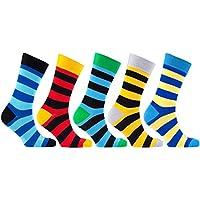 Calcetines N socks-men 5-pair Lujo divertido Fresco algodón colorido vestido calcetines caja de regalo