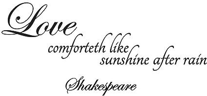 Love Comforteth Like Sunshine After Rain Shakespeare Wall Quote Wall