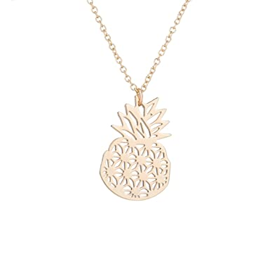 Amazon Aochee Origami Pineapple Necklace Cute Summer Style