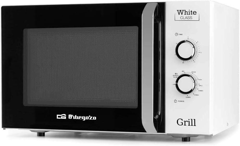 Microondas con grill Orbegozo MIG 3021, 30 Litros, 1000W,