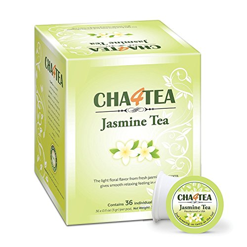 Cha4TEA 36 Keurig K-Cup Jasmine Green Tea Pack K Cups