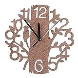 Gilroy moderno reloj de pared de madera 3d árbol y pájaro reloj salón hogar decoración de la oficina