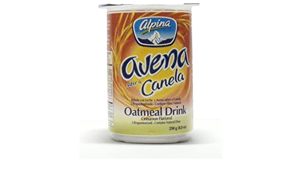 Amazon.com : Alpina Cinnamon Flavored Oatmeal Drink (12 Pack) (Avena Canela) : Instant Breakfast Drinks : Grocery & Gourmet Food