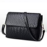YJIUX Women Shoulder Bag PU All Seasons Wedding Event/Party Casual Formal Office & Career Flap Snap Black,Black