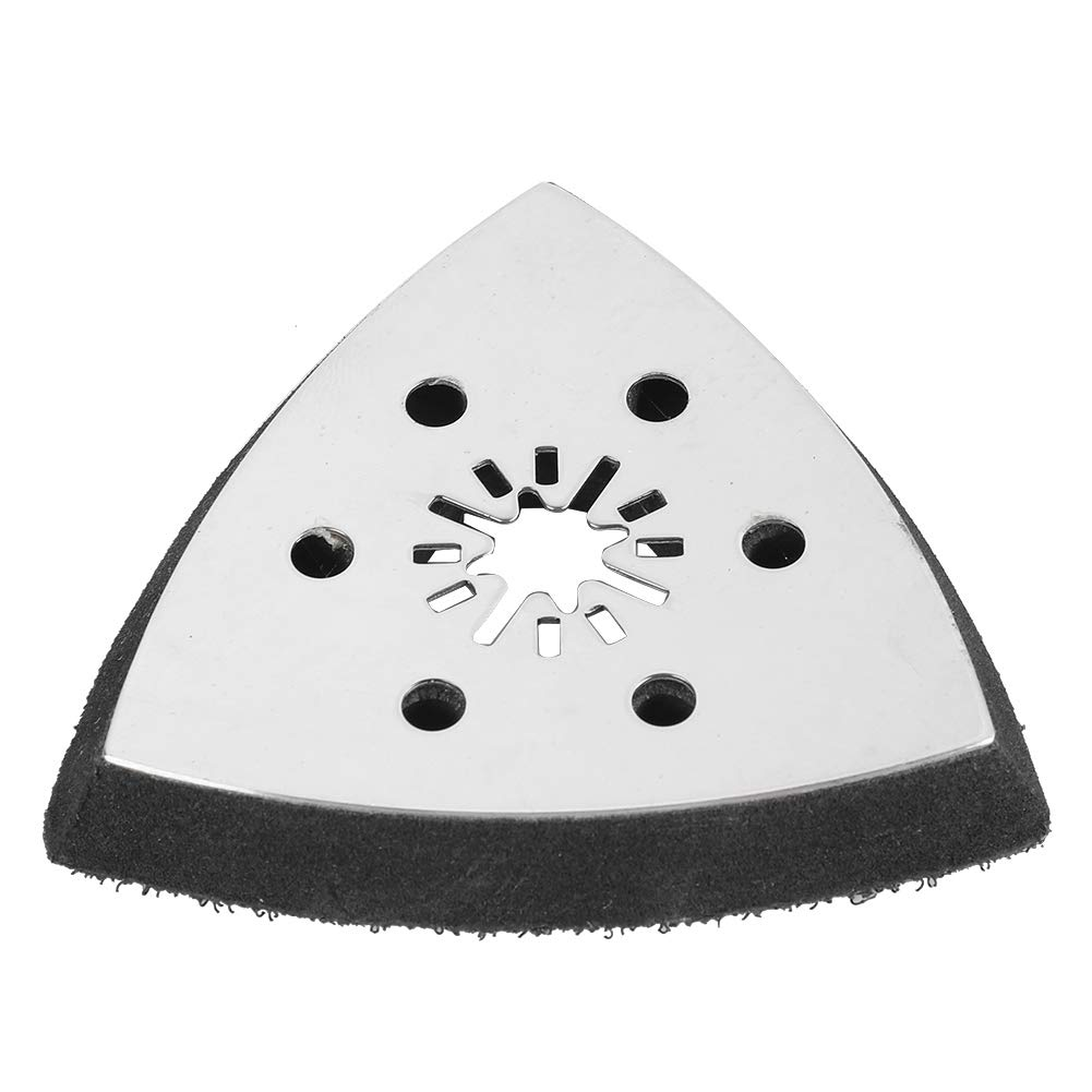 Oscillating Sanding Pad,Triangle Sanding Pad 61pcs Sanding Pad 90mm 6 Holes Sanding Paper Oscillating Polish Multi Tools