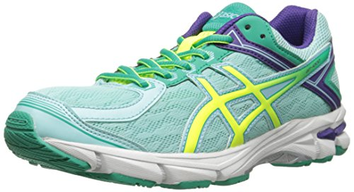 Price comparison product image ASICS GT 1000 4 GS Running Shoe (Little Kid/Big Kid), Ice Blue/Flash Yellow/Emerald, 6 M US Big Kid