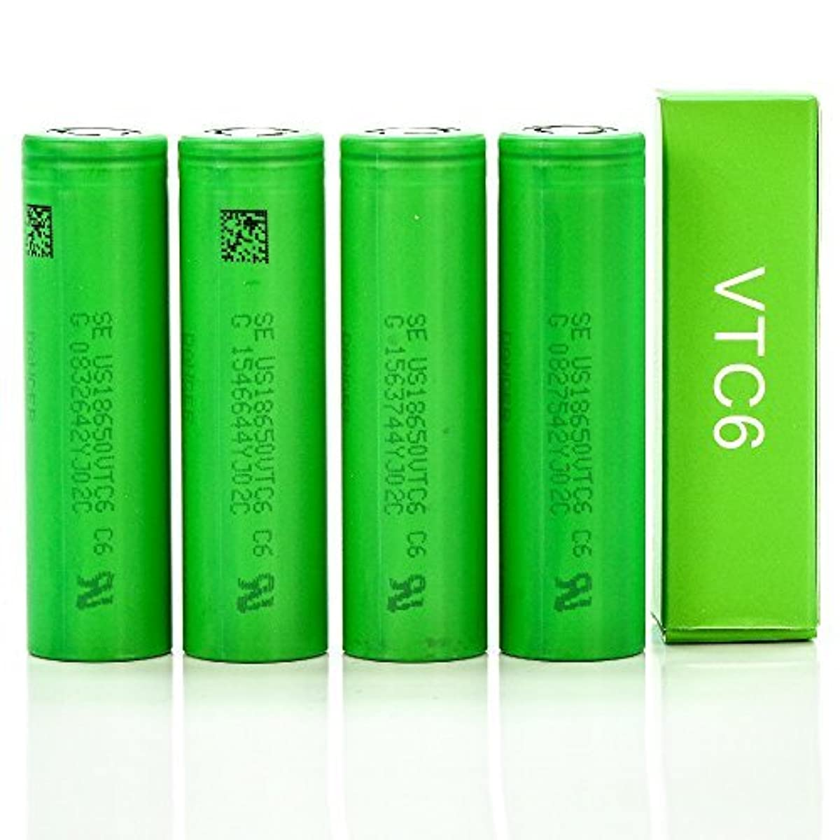 4pack Sony VTC6 18650 3000MAH 20A FT IMR 3 7V authentic original flat top  high drain battery by V Force
