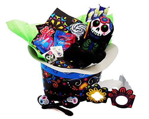 Día de los Muertos Day of the Dead Candy Toy Gift Basket Coco