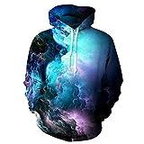 Uideazone 3d Nebula Star Cluster Pullover Hooded Sweatshirt Cool Hoodie...