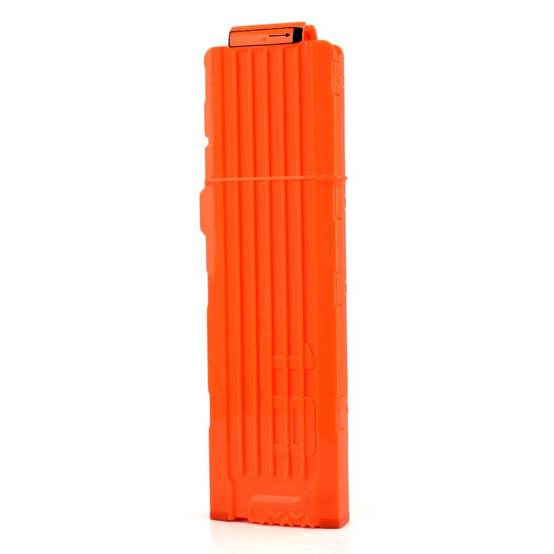 TXXCI Soft Bullet Clips For Nerf Toy 18 Bullets Ammo Cartridge Dart Nerf Clips - Orange