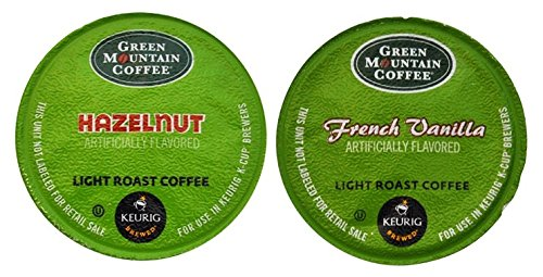 - Green Mountain Coffee FLAVORED Variety Pack - HAZELNUT & FRENCH VANILLA - 48 K-Cups for Keurig Brewers