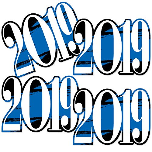 (Blue Grad 2019 - Best is Yet to Come - 2019 Decorations DIY Royal Blue Graduation Party Essentials - Set of)