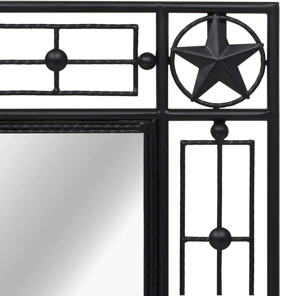 vidaXL Miroir Mural Rectangulaire 50x80 cm Noir D/écor Salle de Bain Chambre