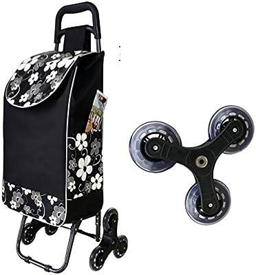 DXG&FX Subir las escaleras Carrito de la compra Comprar un carrito de verduras Carro Carro Carretilla plegable-N 14*10*35inch(38*25*89cm)