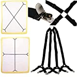 Yaobabymu Bed Sheet Fasteners,Adjustable Fitted Sheet Band Straps Grippers Suspenders for Bed Sheets,Mattress Covers