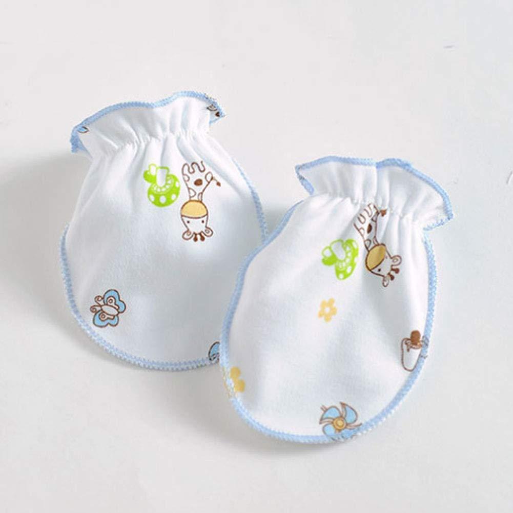 4 Pair Cotton Newborn Gloves Baby Anti-Grab for 0-6 Months