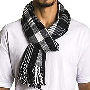 Alpine Swiss Winter Scarf Soft Elegant Long Fashion Wrap Scarves Black Plaid
