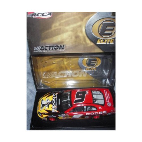 2004 Kasey Kahne #9 Action Racing Collectables Club of America RCCA 1/24 Scale Hood Opens, Trunk Opens HOTO Dodge Dealers Spy vs Spy Mad Magazine Top of the Line Elite Diecast Individually Serialized Very Limited Production Only 804 Made...Rookie Year Yellow Rookie Stripes Led Laps At Atlanta