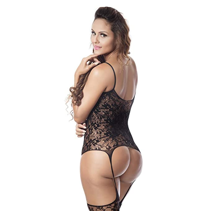 Women One Piece Fishnet Lingerie Lace Babydoll Teddy Mini Bodysuit Women Sexy Lace Underwear at Amazon Womens Clothing store: