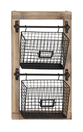 Deco 79 58645 Basket Wall Rack ()