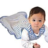 Woolino Toddler Sleeping Bag, 4 Season Merino Wool Baby Sleep Bag or Sack, 2-4 Years, Blue Bell