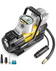 AstroAI Compresseur d'air numérique portable pour voiture, 100 PSI 12 V, avec adaptateurs de buse supplémentaires et fusible pour pneus de voiture, vélo et autres voitures, Small