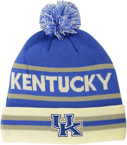 Nike Kentucky Wildcats NCAA 2014 Pom Knit Beanie (One Size, Blue-White) (Beanie Wool Nike)