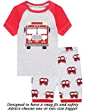Kyпить Little Cat Boys Pajamas Firetruck Short Toddler Clothes Kids Pjs Sleepwear Summer Shirts 4t на Amazon.com