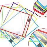 MMTX 6pcs Reusable Dry Erase Pockets Plastic
