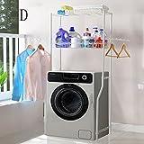 DIDIDD Shelf-Hwf Bathroom Shelves Multi - Function Stainless Steel Washing Machine Toilet Rack Storage Rack,D