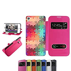 caselabdesigns Flip Carcasa Funda Farben Puzzle Shade para Sony Xperia Z3D6683Fucsia–Funda protectora plegable de rosa