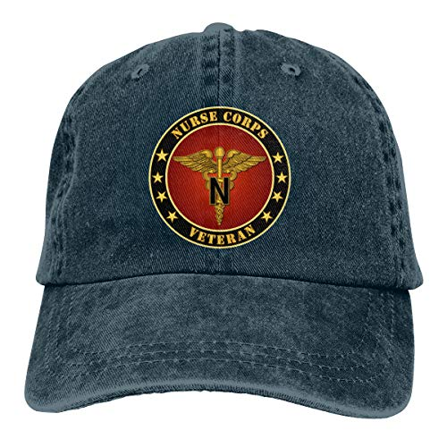 Endool Army Nurse Corps Mens Cotton Adjustable Washed Twill Baseball Cap -