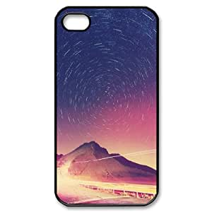 IPhone 4/4s Case, Star Circles Astrophotography Girls Protective Case for IPhone 4/4s {Black}