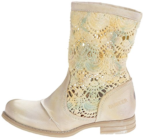 Bunker Footwear Led, Fashion Stiefel Frauen, Runder Zeh Beige/ Yolk
