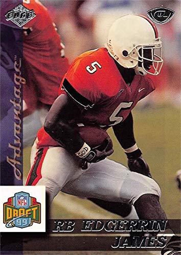 Edgerrin James football card (Miami Hurricanes) 1999 Collectors Edge Draft Rookie #170