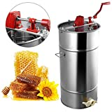 Goplus Large 2 Frame Stainless Steel Honey Extractor Beekeeping...