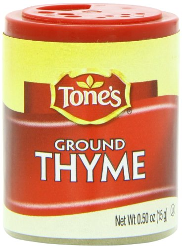 Tone's Mini's Thyme, Ground, 0.50 Ounce (Pack of 6) by Tone's