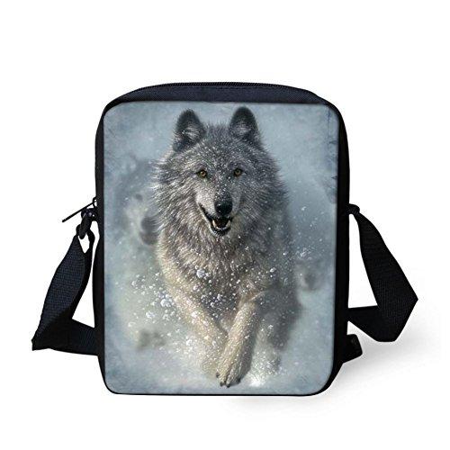 showudesigns Z-W1699E - Bolso al hombro para mujer Multicolor lobo Lobo