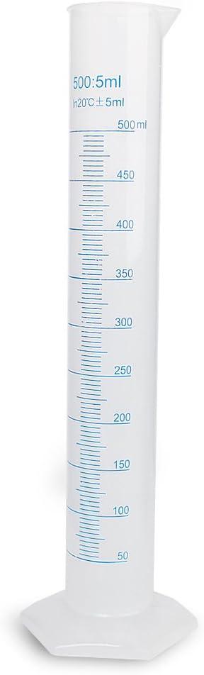 500ml Cilindro Graduado Probeta de Plástico Polipropileno