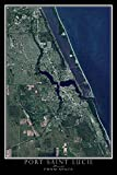 Terra Prints Port Saint Lucie Florida Satellite Poster Map M 16 x 24 inch
