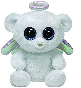 Desconocido T.Y 36812 - Angel Bear Ty Beanie Boos Halo - Peluche Oso, 10.1 cm