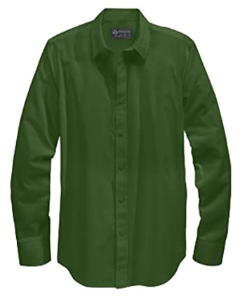 American Rag Mens Dark Green Long Sleeve Button Down Shirt Large ...