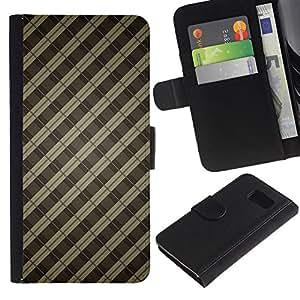 All Phone Most Case / Oferta Especial Cáscara Funda de cuero Monedero Cubierta de proteccion Caso / Wallet Case for Sony Xperia Z3 Compact // Pattern Bars Grey Pastel