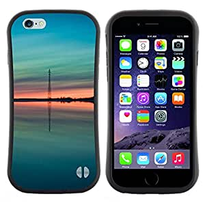 "Hypernova Slim Fit Dual Barniz Protector Caso Case Funda Para Apple (4.7 inches!!!) iPhone 6 / 6S (4.7 INCH) [Teal verde melocotón verano Naturaleza""]"