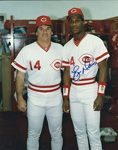 Autographed Eric Davis 8x10 Cincinnati Reds Photo with COA