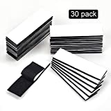 Industrial Strength Hook Loop Strips, 30 Pack Heavy Duty Mounting Tape, Self Adhesive Fastener Sticky Back Double Sided Strips for Home