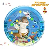 iHaHa 40''X40'' Baby Tummy Time Water Play Mat, Infant Baby Water Mat Toys for 0 3 6 9 12 Months Newborn Infant Toddler Boy Girl