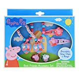 Peppa Pig Best Friends Accessory Set 6 Piece with Bracelets Hair Clips and Rings