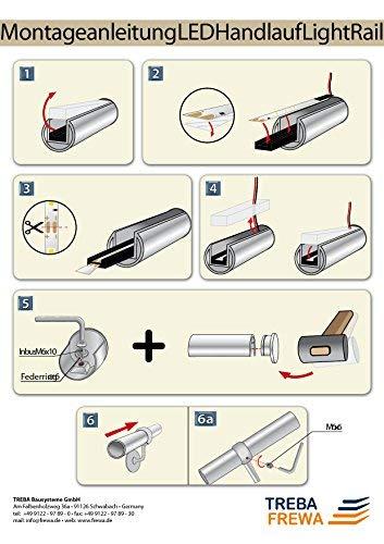 LED Handlauf-Set in Edelstahl LightRail L= 3000mm