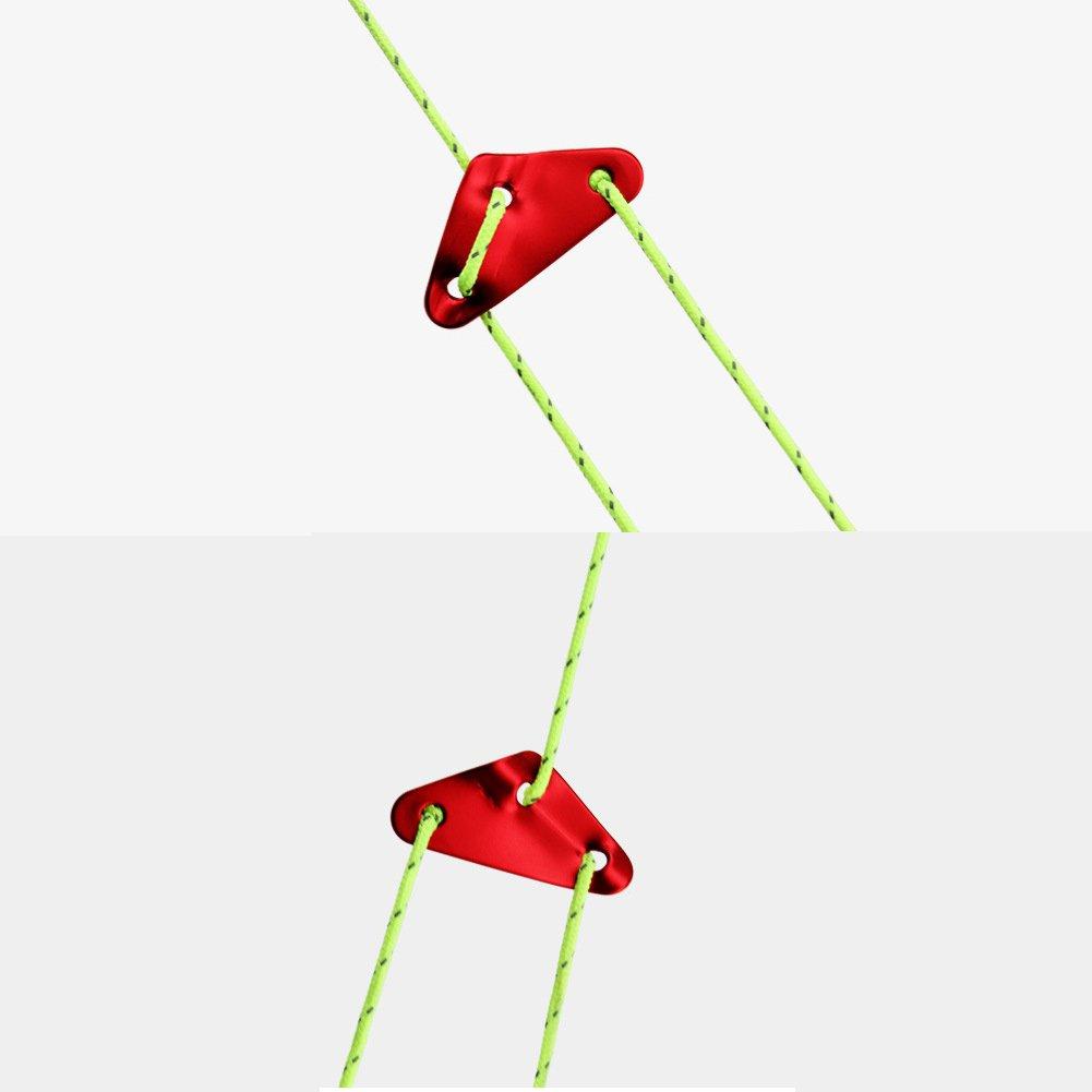 aveson Pack de 10/Tensor tri/ángulo de aluminio Cable Ajustador para tienda de campa/ña Cuerda de viento cubo cierre tensor cuerda para Camping senderismo trekking